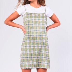 Glamorous - Pink Chartreuse Check Dress